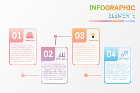 Zakelijke infographic om geld te verdienen, infographic sjabloon met 4 stappen, bedrijfsconcept infographic kan worden gebruikt voor workflowlay-out, diagram, nummeropties, voortgang, tijdlijn, web, project, enz.