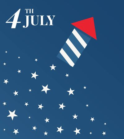 4 th of July. Happy independence day. Vector Illustration.