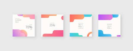 Social media template. Trendy editable social media post template. Mockup isolated. Template design. Vector illustration.