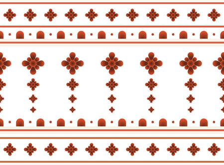 Geometric ethnic oriental pattern background. Design for texture, wrapping, clothing, wallpaper and background. Pattern embroidery design. Illustration