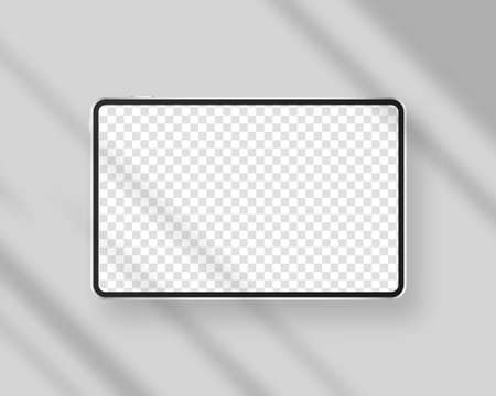 Modern tablet with blank screen. Realistic smartphone mockup. Mockup vector isolated. Template design. Realistic vector illustration.