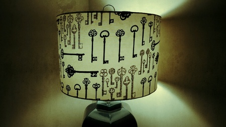 lamp shade: Old Key Style Lamp Shade
