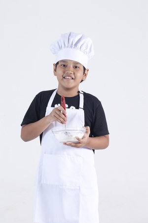 boy cooking photo