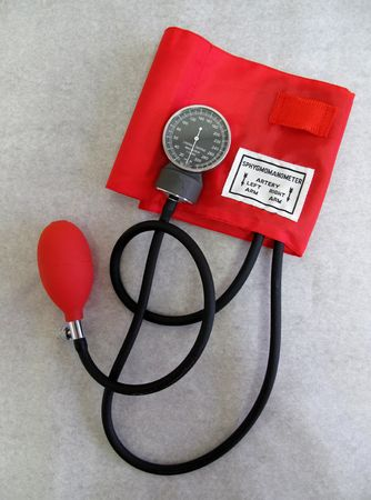 cuff: Red Blood Pressure Cuff
