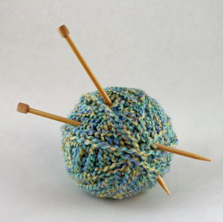 knit: Ball of Yarn with knitting needles