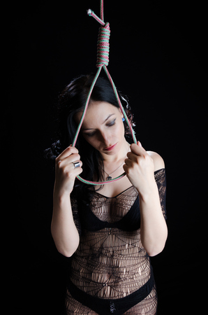 Woman With Hanging Noose photo