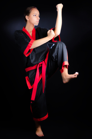 Karate Girl in Kimono photo