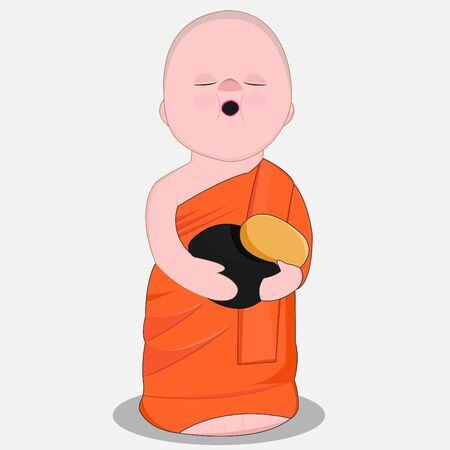 Little Monk Illustration
