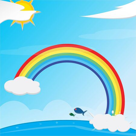 Rainbow Art Stock Vector - 18306939