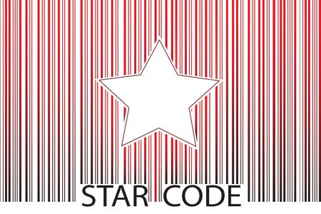 Star barcode Stock Vector - 18406926