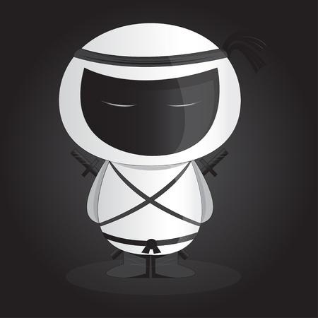 White ninja Stock Vector - 20991350