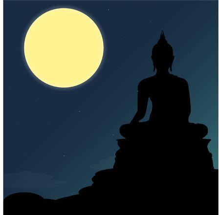 Buddha sit statue Illustration