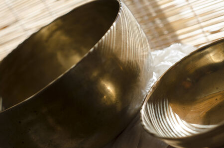 Tibetan Singing Bowls Stock Photo - 24807068