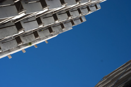 Apartments and blue sky in Algarve Portugal Stock Photo