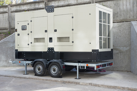 Big Backup Generator for Office Building Stock Photo