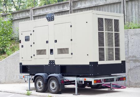 remolque: Mobile Generador Diesel Backup para el edificio de oficinas
