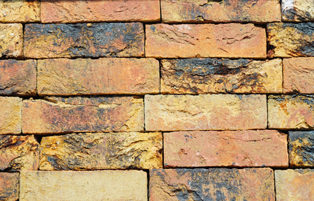clinker: Colorfull Old, Luxury European Ceramic Clinker BrickTextured Wall Background
