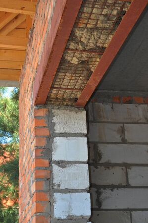 insulate: Thermal bridges and door insulation in home construction. Stock Photo