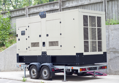Mobile Diesel Backup Generator for Office Building Stock Photo - 45783646