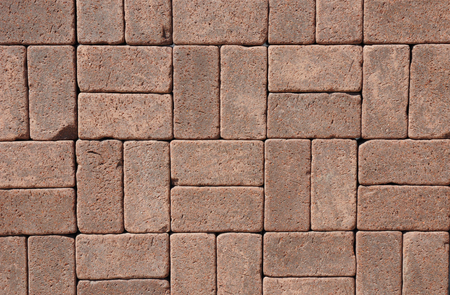 Luxury Vintage Ceramic Clinker Pavers for Patio. Floor pavers in a path, detail of a pavement to walk, textured background