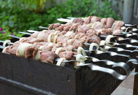Shashlik or shashlyk (meaning skewered meat) was originally made of lamb. Nowadays it is also made of pork or beef depending on local preferences and religious observances.
