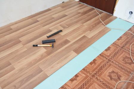 Installing Laminate Flooring Laminate Flooring Installation Stock