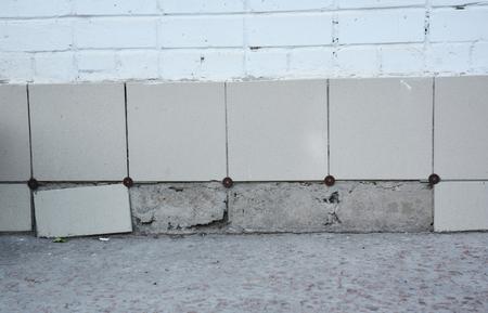 Replace Portions of Broken Porcelain Tiles. Replace Old Clay Tiles  With New Porcelain Tiles