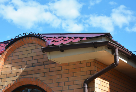 Rain gutter system and roof protection