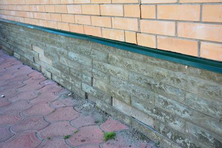 House foundation wall damage repair. Repair damaged foundation, foundation cracks.