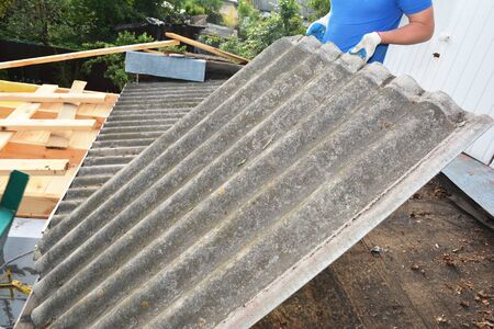 Asbestos Roof Stock Photos And Images 123rf