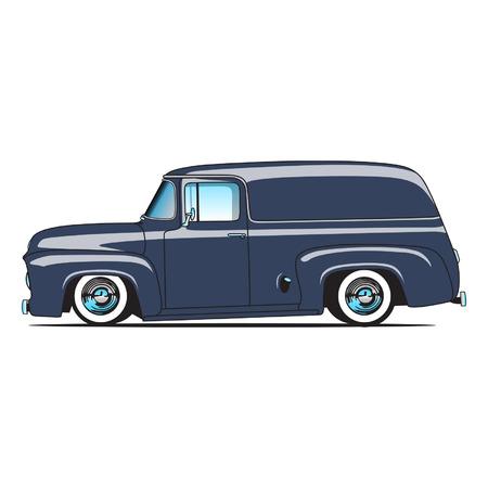 Panel Truck Ilustração