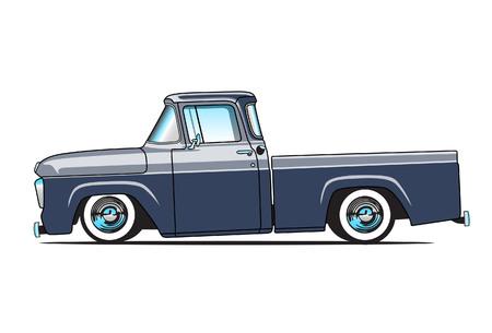 1957 の古いピックアップ トラック  イラスト・ベクター素材