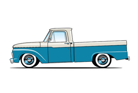 pickup truck: Old Pickup Truck Illustration