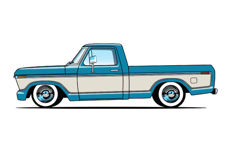 Old Pickup Truck Illustration
