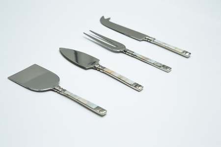 Cheese Knife Set on White Background photo