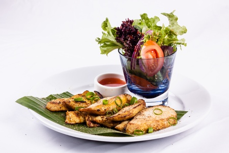 Thai BBQ Chicken with mix salad Stock Photo - 20941723