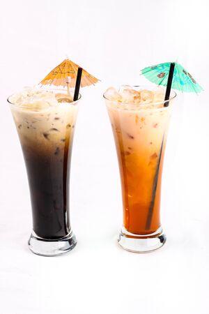 Thai Style Iced Coffee with Milk   O  O leng  and Thai Ice Tea