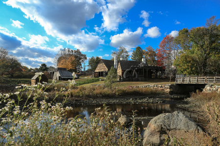 national historic site: Saugus Iron Works National Historic Site Massachusetts Editorial
