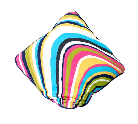 Colourful pillow on white background. photo