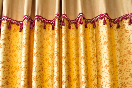gloden: Gloden stage curtain made with silk