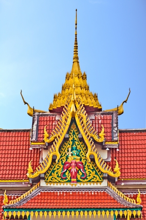 Church roof, wat Saikao, Chaingrai, Thailand   photo