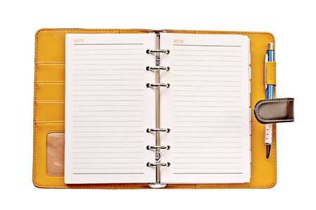 Opened note book on white background  Stock Photo - 13809510