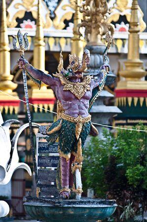 Statue, Thai style sculpture art, fairy tale animal  photo