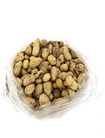 Peanuts Isolated on White background photo