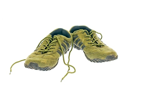 Running shoes on white background photo
