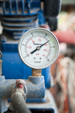 Closeup of pressure meter Stock Photo - 14966107