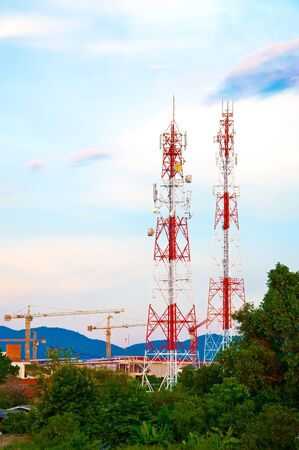 Stanchion Phone tower signals  Stock Photo - 15044985