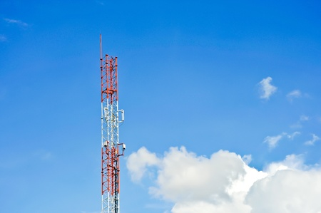 Stanchion Phone tower signals  photo