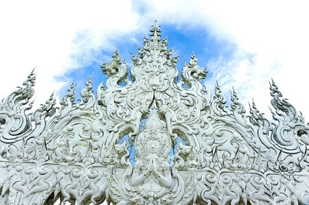 Thai art at White Temple, Wat Rong Khun, Thailand photo