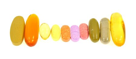 pills on white background photo